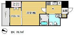 アドバンス三宮ラシュレ[3階]の間取り