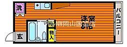 岡山県岡山市中区高島新屋敷丁目なしの賃貸マンションの間取り