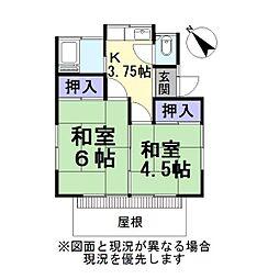 [一戸建] 埼玉県越谷市大字下間久里 の賃貸【/】の間取り