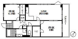楠六パレスビル[2階]の間取り