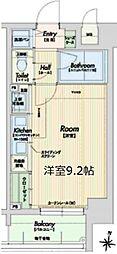 Osaka Metro千日前線 野田阪神駅 徒歩5分の賃貸マンション 5階1Kの間取り