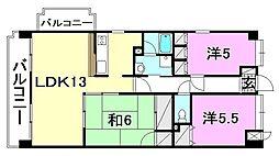 コサ−ジュ衣山[301 号室号室]の間取り