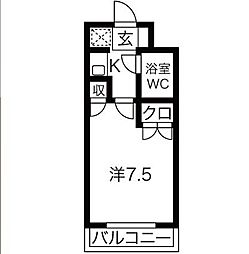 NARABU壱番館[203号室]の間取り