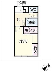 レオパレスSATOUII[1階]の間取り