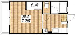 東京都昭島市福島町3丁目の賃貸アパートの間取り