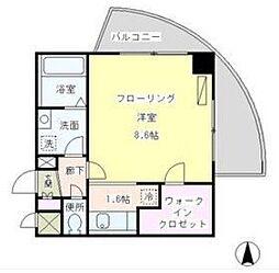 東京都品川区南品川2丁目の賃貸マンションの間取り