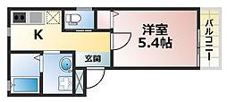 兵庫県神戸市灘区大石東町6丁目の賃貸アパートの間取り