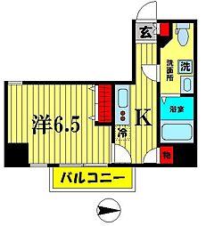 ミモラダ亀戸駅前[3階]の間取り