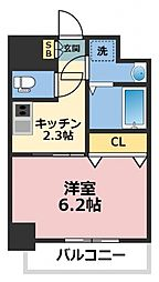 セゾン ラトゥール新今里 8階1Kの間取り