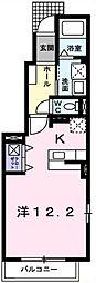 埼玉県越谷市大道の賃貸アパートの間取り