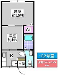 赤沢マンション[102号室]の間取り