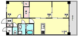 兵庫県神戸市垂水区塩屋町字大谷の賃貸マンションの間取り