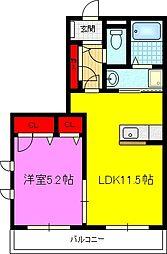 シャーメゾン鴻池A棟[2階]の間取り