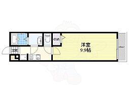 阪急京都本線 摂津市駅 徒歩8分の賃貸マンション 1階1Kの間取り