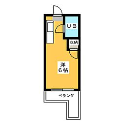 マンション愛晃[4階]の間取り