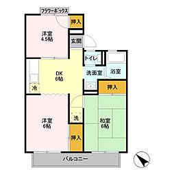 小菅ハイツ[2階]の間取り