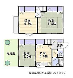 [テラスハウス] 神奈川県鎌倉市手広4丁目 の賃貸【/】の間取り