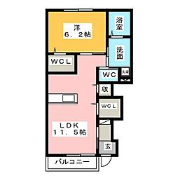 シェルル・ロココモダン X 入野(仮)[1階]の間取り