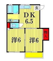 千葉県松戸市五香4丁目の賃貸アパートの間取り