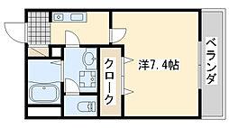 ロカンダ泉佐野[1階]の間取り