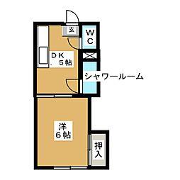中橋ビル[2階]の間取り