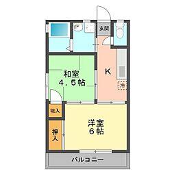 東京都江戸川区上篠崎3丁目の賃貸アパートの間取り