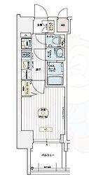 JR東海道・山陽本線 兵庫駅 徒歩9分の賃貸マンション 10階1Kの間取り