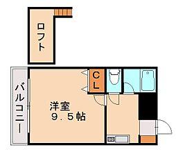 福岡県福岡市城南区東油山6丁目の賃貸アパートの間取り