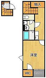 レオネクストアリエッタ桜橋 2階1Kの間取り