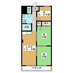 レジデンス大須[5階]の間取り