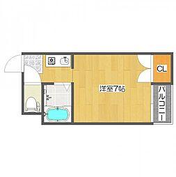 セラ北加賀屋B棟[2階]の間取り