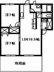 カーサボーナ[1階]の間取り
