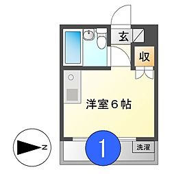 キャッスル新栄[3階]の間取り