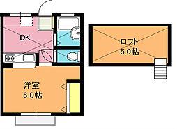 エリュシオンMIKUNI[205号室]の間取り