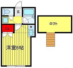 コーポ逆井[105号室]の間取り