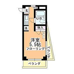 菅原コーポ[303号室]の間取り