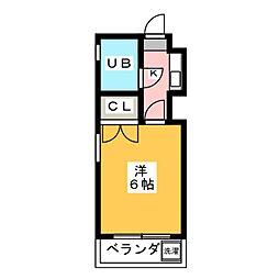 パールマンション桜山[4階]の間取り
