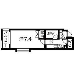 シティライフ覚王山[2C号室]の間取り