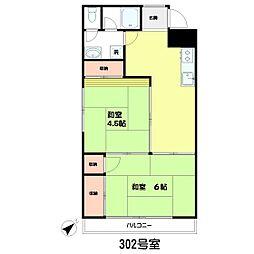榎本第一ビル[302号室]の間取り