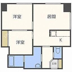 北海道札幌市中央区北二条西28丁目の賃貸マンションの間取り