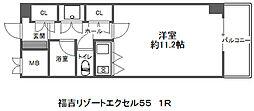福吉リゾートエクセル55[3階]の間取り