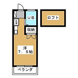 ツインハイツB棟[1階]の間取り