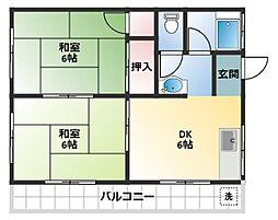 コーポ渋谷[201号室]の間取り