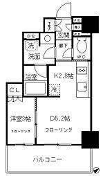 品川タワーレジデンス 4階1DKの間取り