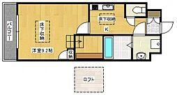 グランデシェチオ千本杉[2階]の間取り