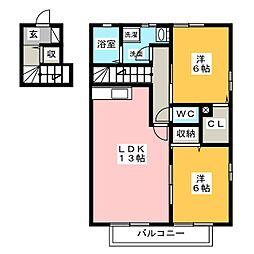 プレミールST[2階]の間取り
