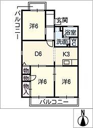 シャンポールY2[1階]の間取り
