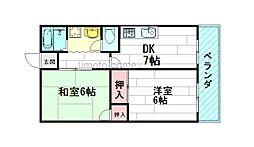 松栄マンション[5階]の間取り