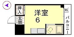 カーサ船岡山[203号室]の間取り