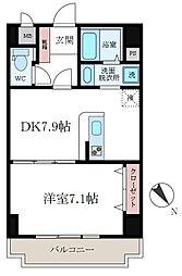 東京都墨田区八広4丁目の賃貸マンションの間取り